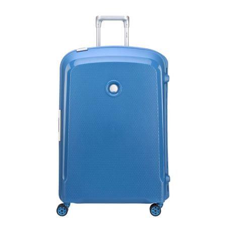 Delsey kovček Belfort Plus, velik, 76 x 52 x 30 cm, Cyan modra