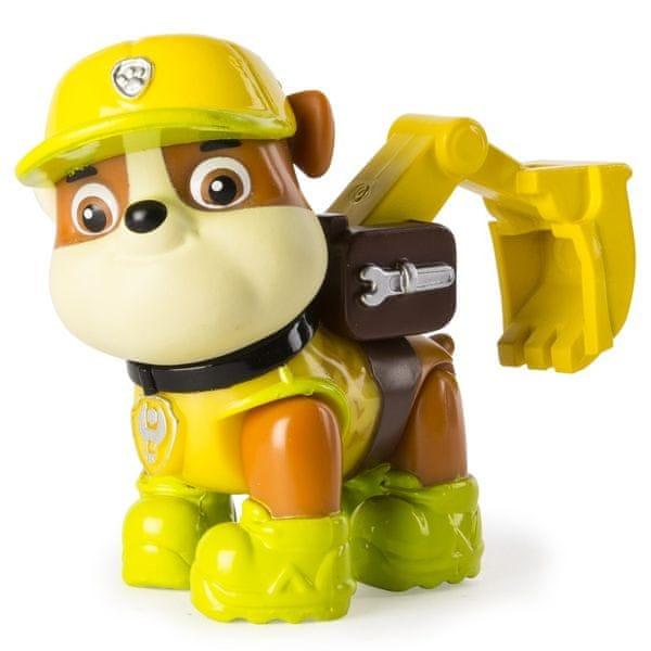 Spin Master Paw Patrol Figurka s příslušenstvím Rubble žlutá