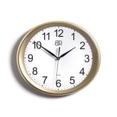 BR zidni sat, ovalni, promjer 30 cm, zlatni