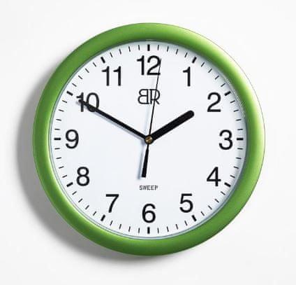 BR stenska ura, premer 30 cm, zelena