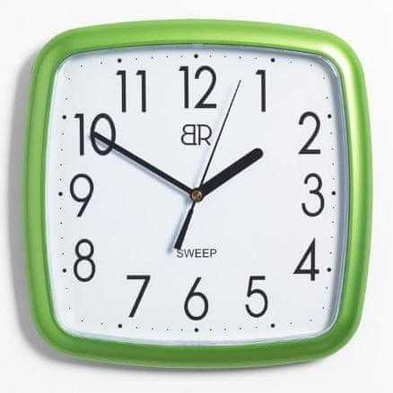 BR stenska ura, 25 x 25 cm, zelena