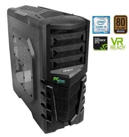 PCplus namizni računalnik Gamer i5-7500/8GB/1TB+120SSD/GTX1060/FreeDos