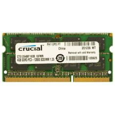 Crucial Pomnilnik (RAM) za prenosnik DDR3 SO-DIMM 4 GB 1600 MHz (CT51264BF160B)