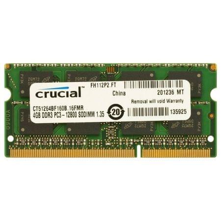 Crucial crucial-Pomnilnik (RAM) za prenosnik DDR3 SO-DIMM 4 GB 1600 MHz (CT51264BF160B) - Odprta embalaža