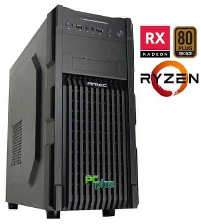 PCplus namizni računalnik Magic Ryzen3-1200/8GB/1TB+120SSD/RX550/FreeDos
