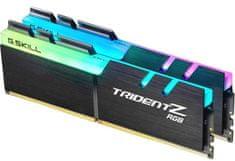 G.SKILL pomnilnik Trident Z RGB DDR4, 16GB Kit (2x 8GB), PC4-25600, 3200MHz, CL16, 1.35V