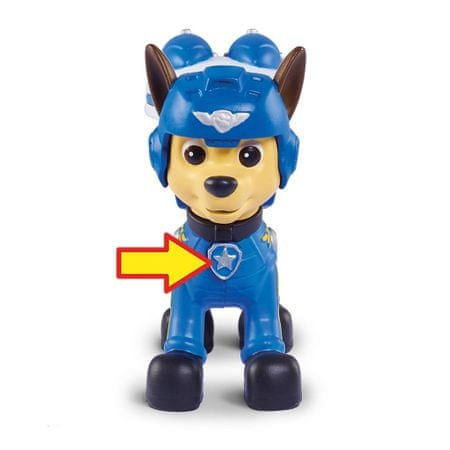 Spin Master Paw Patrol Figurka s leteckými doplňky Chase modrá