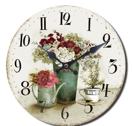 BR stenska ura, retro Šopek, premer 33 cm