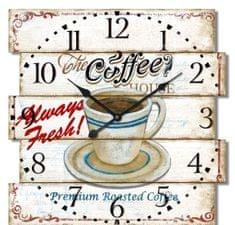 BR zidni sat, retro Caffe, 40 x 40 x 4,5 cm