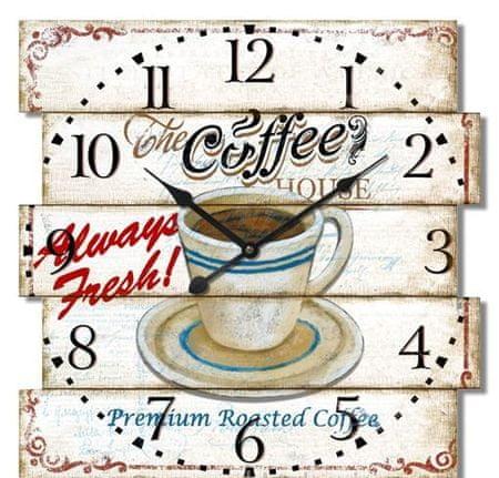 BR stenska ura, retro Caffe, 40 x 40 x 4,5 cm