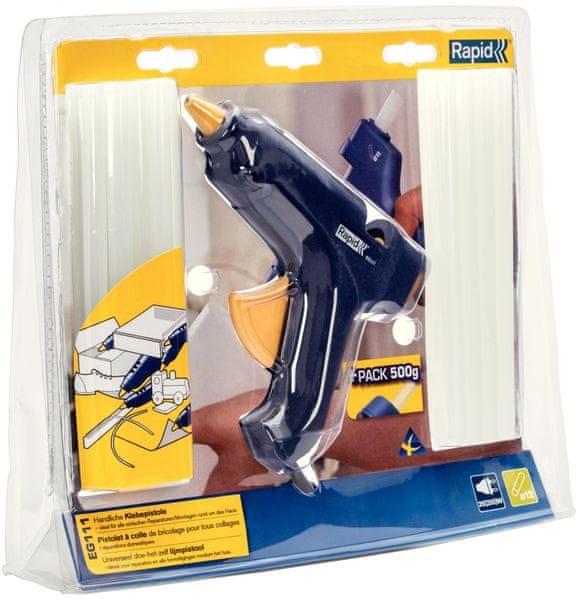 Rapid EG111 tavná lepící pistole + 500 g univerzálního lepidla