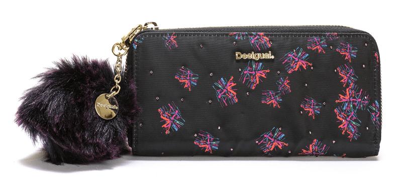 Desigual dámská černá peněženka Zip Around Bloomstar