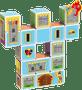 4 - TM Toys Magicube - Sada hrady a domky
