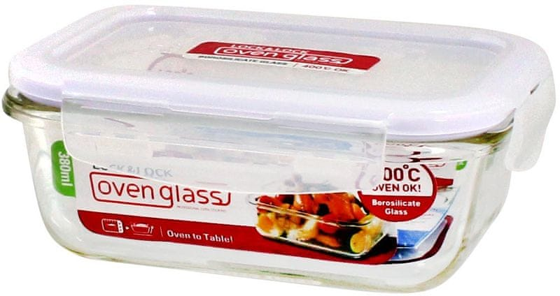 Lock&Lock Dóza na potraviny borosilikátové sklo 380ml