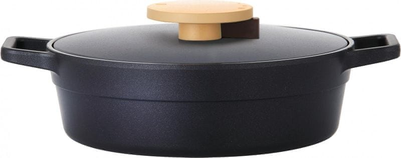 Lock&Lock Kastrol Minimal 24 cm černý