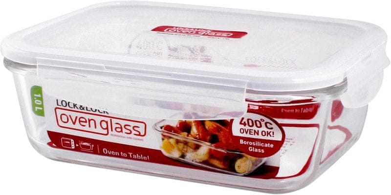 Lock&Lock Dóza na potraviny borosilikátové sklo 1l