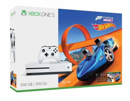 Microsoft igralna konzola Xbox One S 500GB + igra Forza Horizon 3 + Hot Wheels DLC