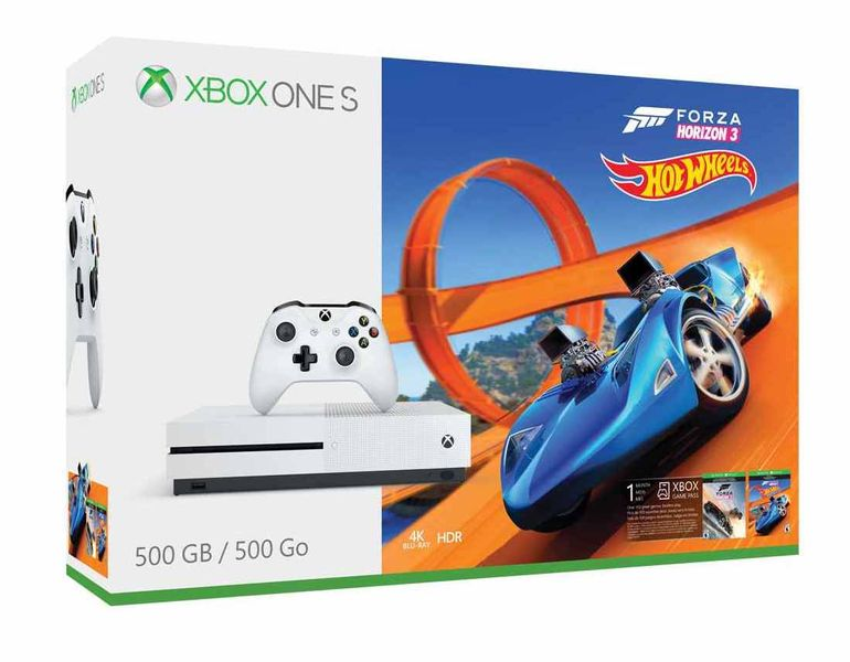 Microsoft Xbox One S 500GB + Forza Horizon 3 + Hot Wheels DLC