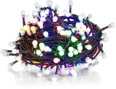 Retlux Karácsonyi fényfüzér, 200LED, gömbök, multicolor