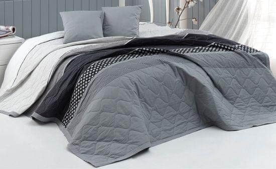 BedTex narzuta na łóżko Eifel 220 x 240 cm + 2 x 40 x 40 cm, szara