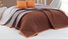 BedTex narzuta na łóżko Spencer 220 x 240 cm +2 x 40 x 40 cm, brązowa