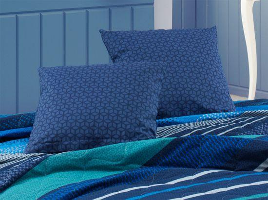 BedTex narzuta na łóżko Marley 220 x 240 cm + 2 x 40 x 40 cm, niebieska