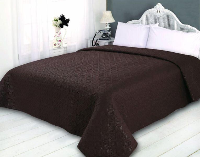 My Best Home Přehoz na postel Sonic hnědá, 220x240 cm