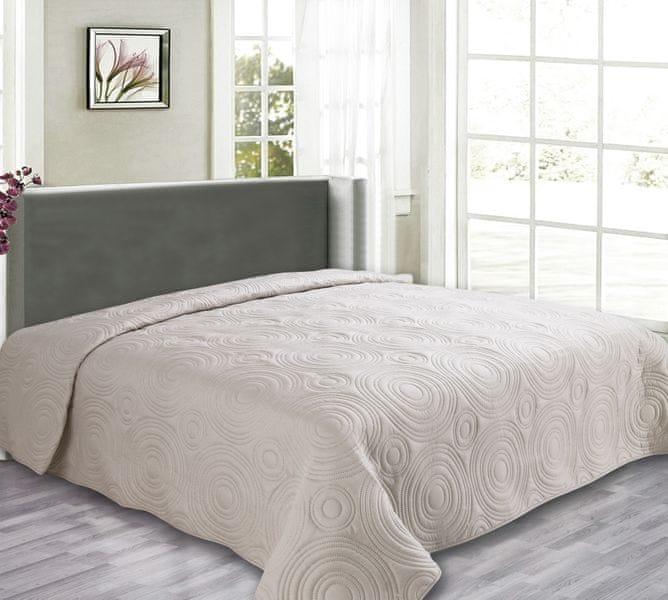 My Best Home Přehoz na postel Reflection béžová, 240x260 cm
