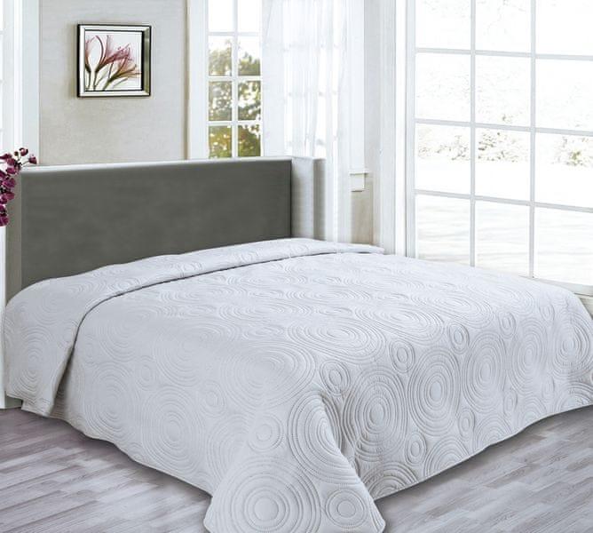 My Best Home Přehoz na postel Reflection světle šedá, 240x260 cm