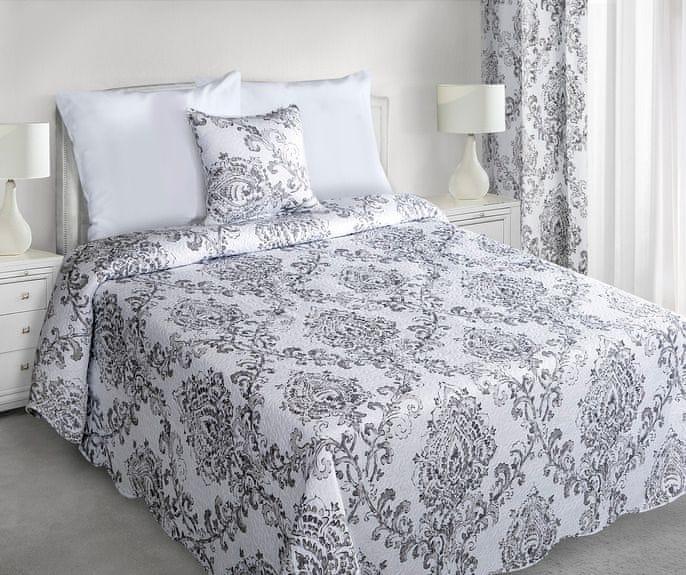 My Best Home Přehoz na postel Camelot stříbrná, 220x240 cm