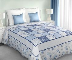 My Best Home Ágytakaró Patchwork kék 220x240 cm f8afc47c7d