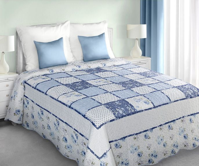 My Best Home Přehoz na postel Patchwork modrá 220x240 cm