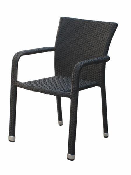 Dimenza Pohodlné ratanové křeslo BARCELONA - černé