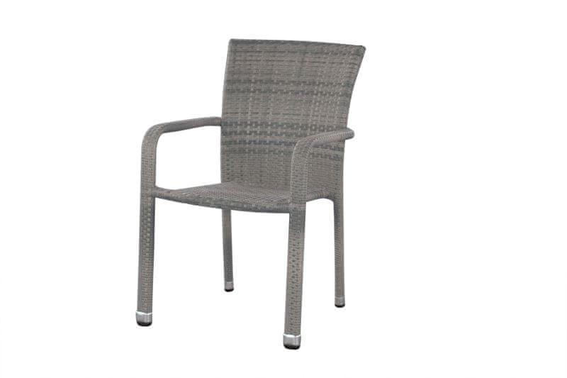Dimenza Pohodlné ratanové křeslo BARCELONA - šedé