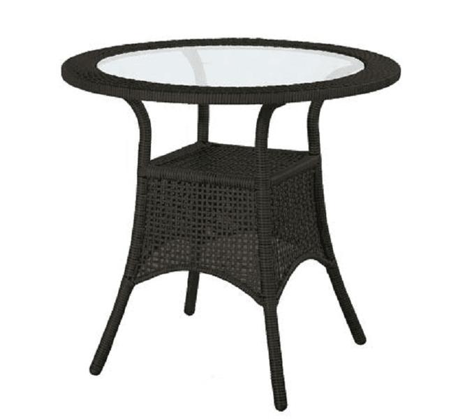 Dimenza Kulatý ratanový stolek BERLIN ø76 cm - hnědý