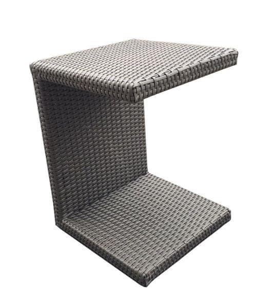 Dimenza Odkládací stolek k lehátku - hnědý