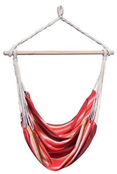 Dimenza Závěsná látková houpačka BRASIL - červená s pruhy