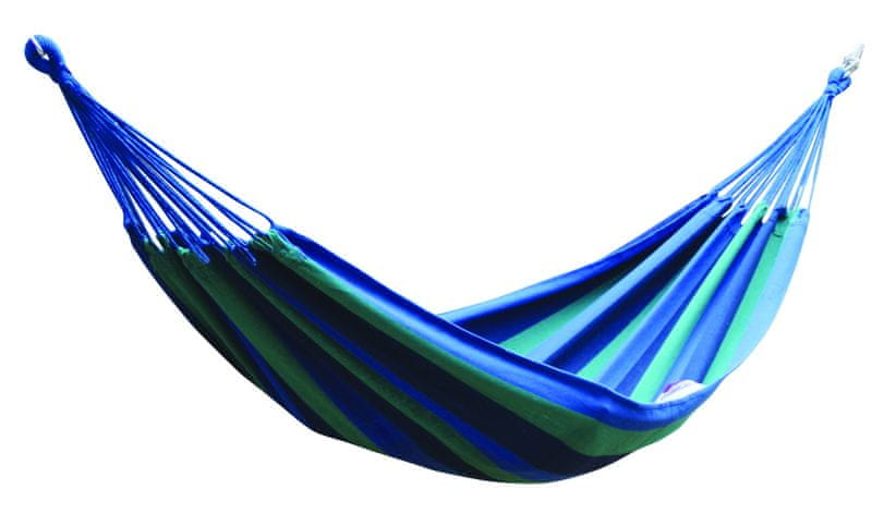 Dimenza Látková houpací síť - modrá s pruhy