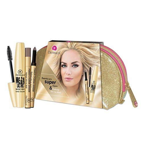 Dermacol Dárková sada dekorativní kosmetiky na oči Mega Lashes Mascara & Powder Eyebrow Shadow