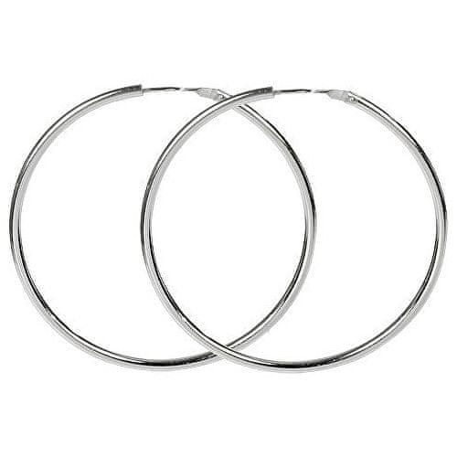 Brilio Silver Náušnice stříbrné kruhy 431 001 01008