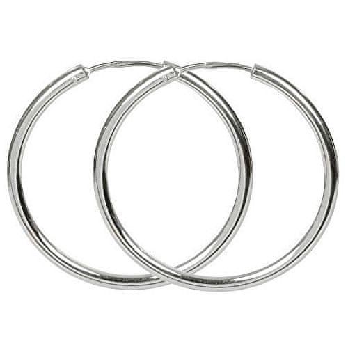 Brilio Silver Náušnice stříbrné kruhy 431 001 01006
