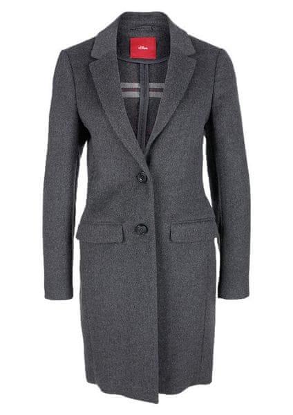 s.Oliver dámský kabát 40 šedá