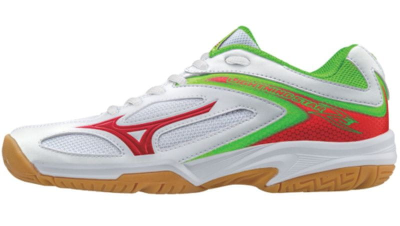 Mizuno Lightning Star Z3Jr/Wht/ChineseRed/GreenGeck/36.0/3.5