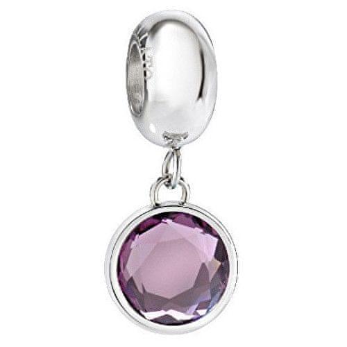 Morellato Ocelový přívěsek s fialovým krystalem Drops SCZ906