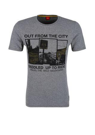 3e45cf25b2c8 s.Oliver pánské tričko L sivá