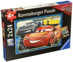 Ravensburger sestavljanka Disney Cars 3: Zmagal sem, 2 x 24 kos