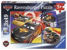 Ravensburger otroška sestavljanka Cars: pustolovščina na cesti, 3x49 koščkov