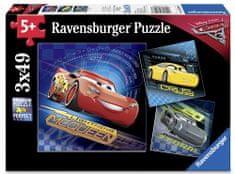 Ravensburger sestavljanka Disney Cars 3, 3 x 49 kos