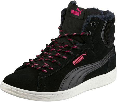 Puma ženski čevlji Vikky Mid Corduroy, črni, 40,5