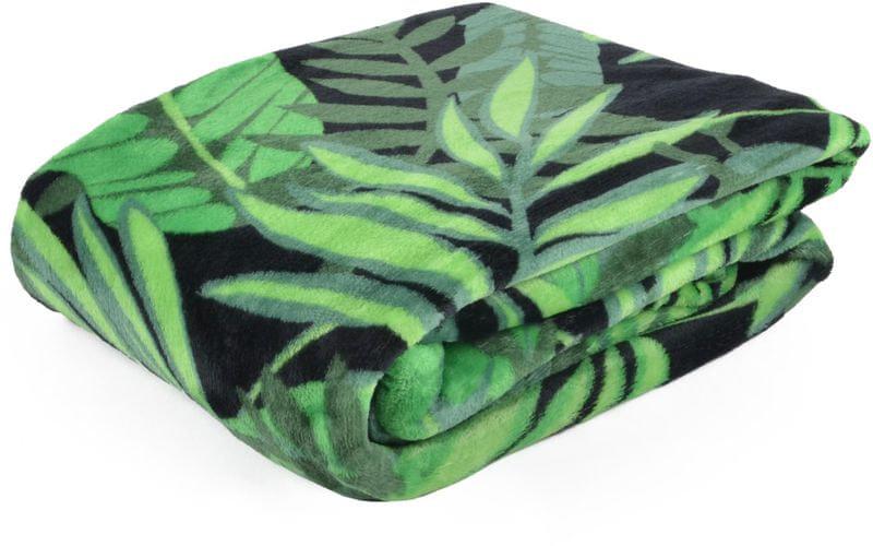 My Best Home Deka z mikrovlákna PALM 150x200 cm zelená